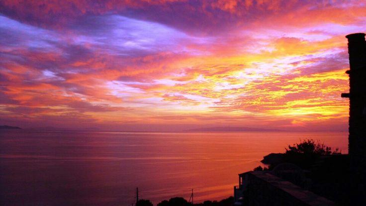 Sunset from Aegean Castle www.aegeancastle.gr