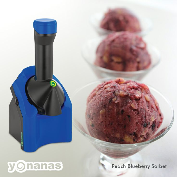 ... blueberries to create this simply refreshing #blueberry #peach #sorbet