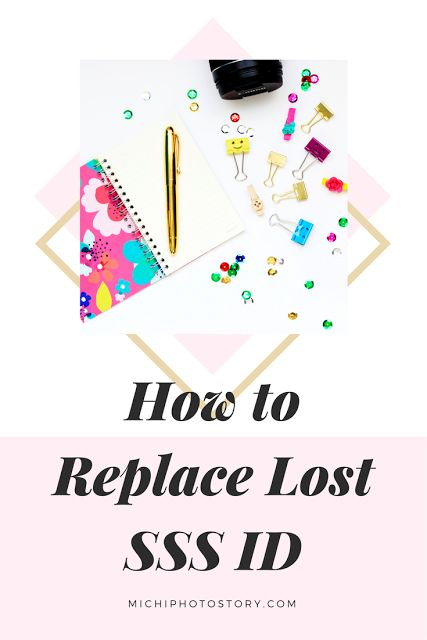 Michi Photostory: How to Replace Lost SSS ID