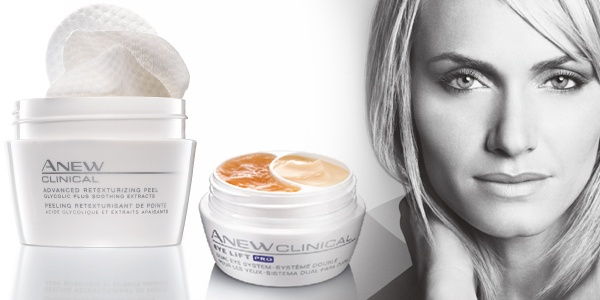 Are these top performers in your beauty bag?  Peel away dullness and visible signs of age damage so healthier-looking skin cells can surface with Anew Clinical Retexturizing Peel.  Improve the look of eyelids and the under-eye area! Anew Clinical Eye Lift Pro