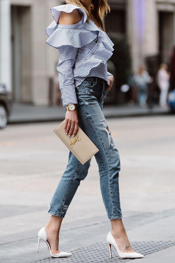 10 outfits modernos con los que sí puedes usar tacones blancos  c9006893de115