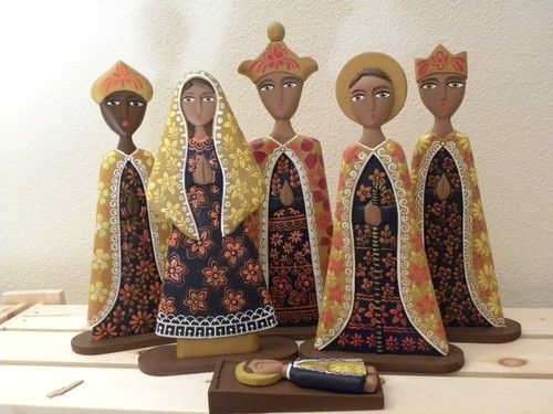Nativity Set - Wood - Made in Nicaragua - I absolutely LOVE this!