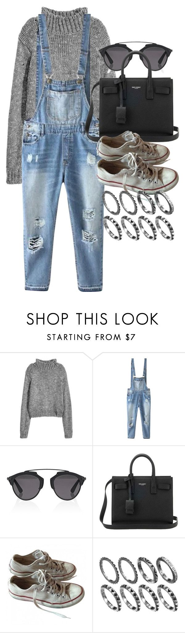"""""""Style #11342"""" by vany-alvarado ❤ liked on Polyvore featuring Relaxfeel, Christian Dior, Yves Saint Laurent and Converse"""