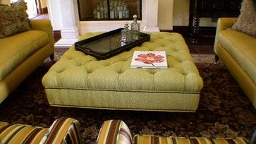 Custom Built and Upholstered Ottoman - Traditional - Ottomans And Cubes - Orange County - Decorama
