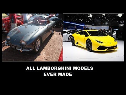 All Lamborghini Models Ever Made Since 1964 Until Today - YouTube