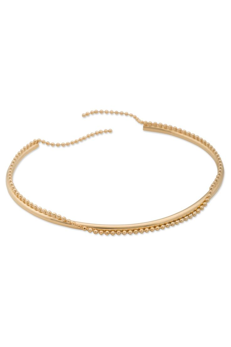 Sabrina Dehoff Armband Oval Bangle with Pearl Chain. www.styleserver.de