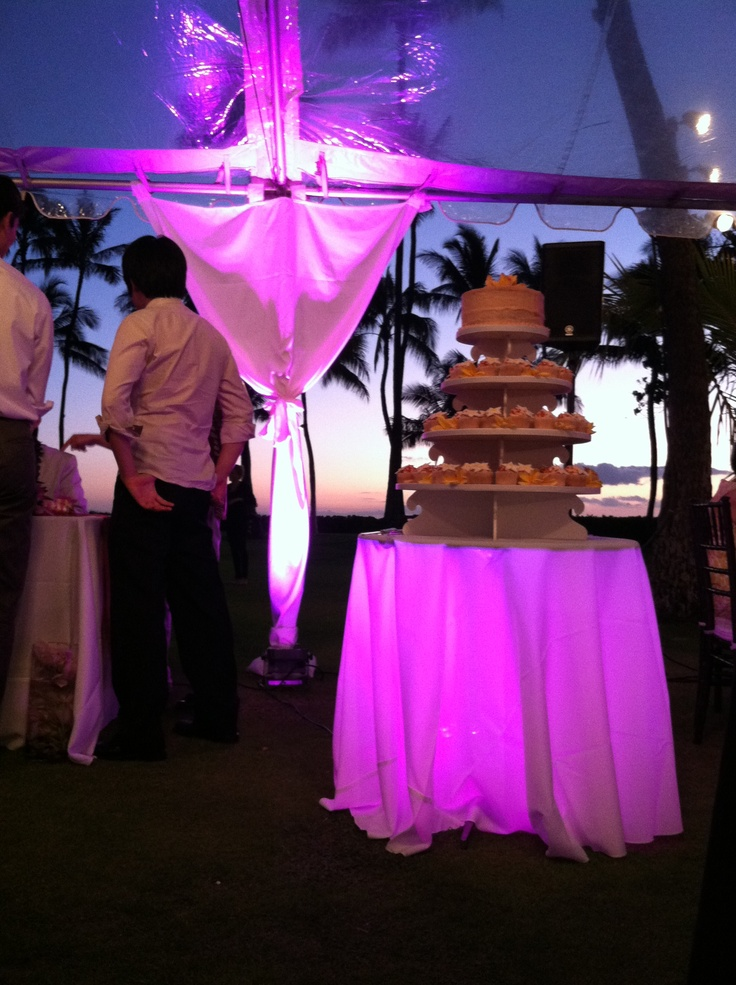 Hawaii Lanikuhonua cake light and clear tent