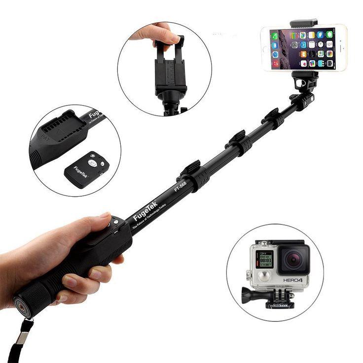 Fugetek FT-568 RATED #1 PROFESSIONAL SELFIE STICK ON AMAZON in 2016. Black, All Aluminum, High End, Luxurious Design - Doesn't look cheap! #selfie #selfiestick http://levisatamazon.wix.com/selfie-stick