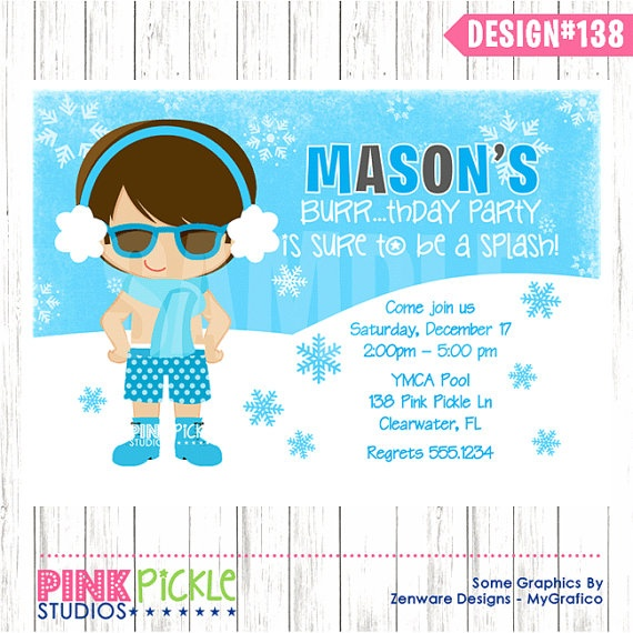 Best Pizza  Pool Party Images On   Invitation Cards