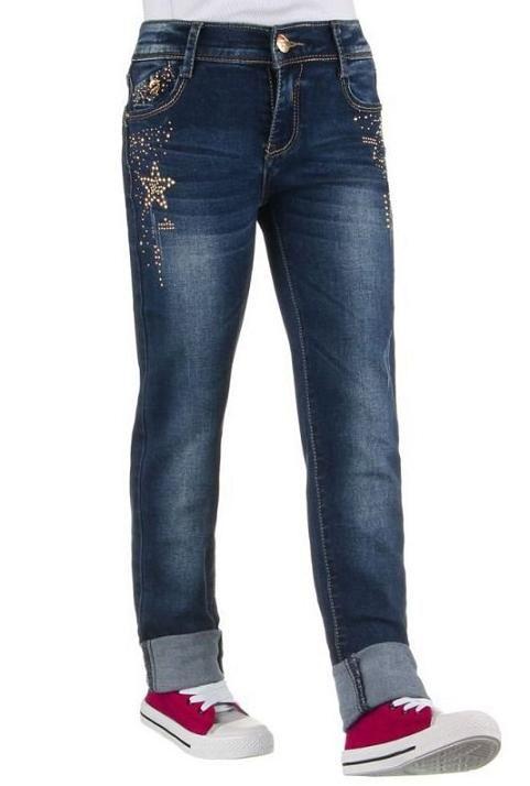 Meisjes jeans spijkerbroek strass studs blauw maat 98/158 €21,95 Meisjes jeans spijkerbroek met strass studs steentjes used look blauw voor €21,95 beschikbaar in maat 98 t/m 158, ook in andere modellen en kleuren.