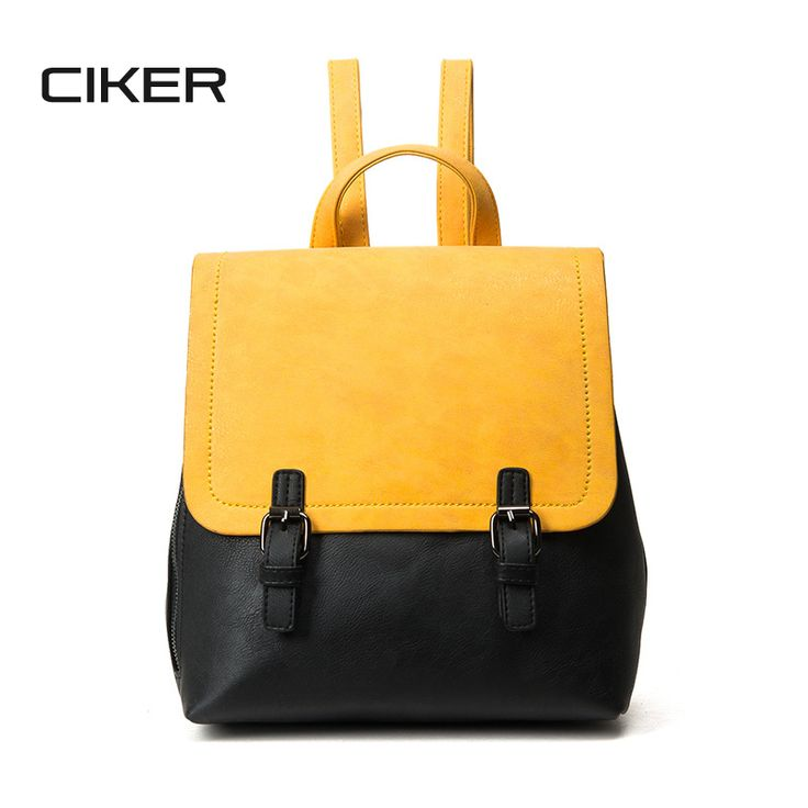 Cheap leather backpack women, Buy Quality fashion leather backpack directly from China leather backpack Suppliers: CIKER New 2017 Fashion Contrast Color Leather Backpack Women Backpacks Sweet Beautiful Gril'S School Bag Preppy Style Backbag