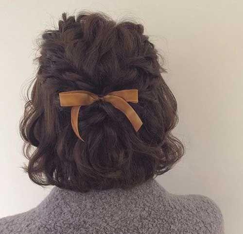 Gut aussehende geflochtene kurze Frisuren