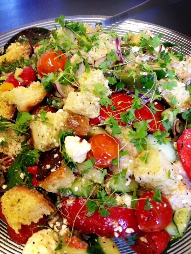 @roastcafe: Today's salad - Panzanella (our version)