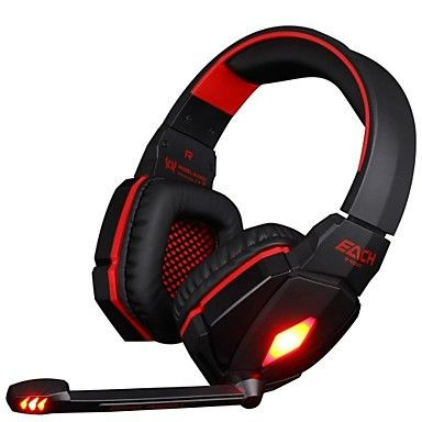 GE4000 PC Gaming Headset 3.5mm Over Ear Red Edition. Only at www.pandadeals.co.uk