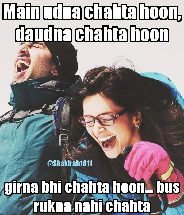 Best Quotes Movie Bollywood: One Of The Best Dialogues From YJHD :D