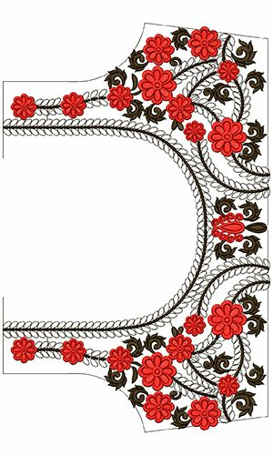 9652 Blouse Embroidery Design