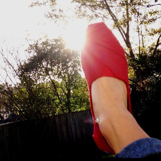Super cute shoes for a great cause - TOMS SHOES Toms Red Canvas Women's Classics $16.89