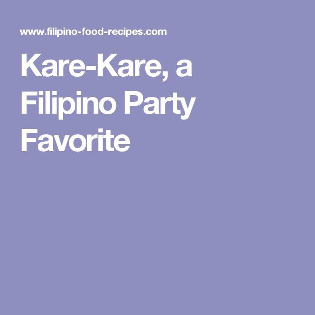 Kare-Kare, a Filipino Party Favorite
