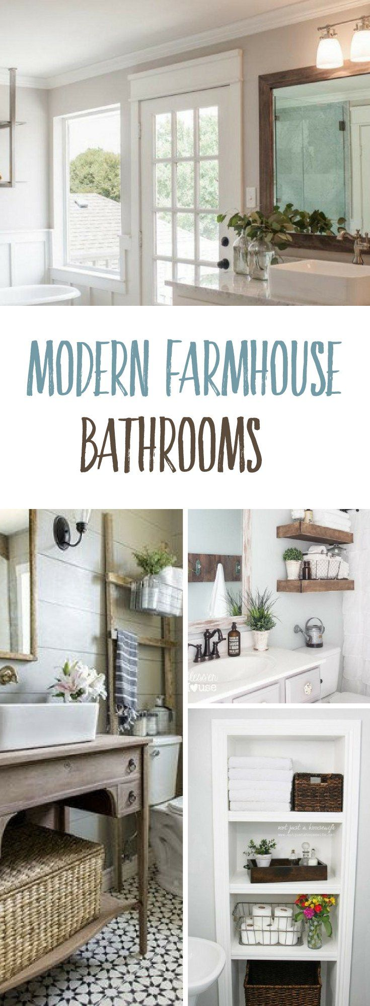best farmhouse bathrooms images on pinterest bathroom