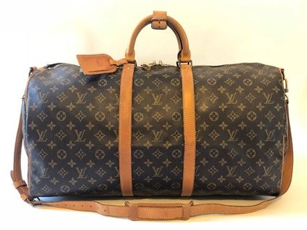 24317560ed67 Louis Vuitton Keepall Bandouliere 55 Brown Monogram Canvas   Cowhide Weekend  Travel Bag. Save 68% on the Louis Vuitton Keepall Bandouliere 55 Brown  Monogram ...