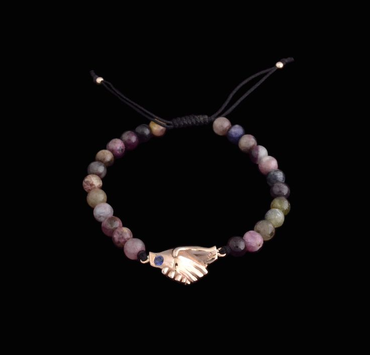 #multicolor #tourmaline #rosegold #ruby #sapphire #bracelet