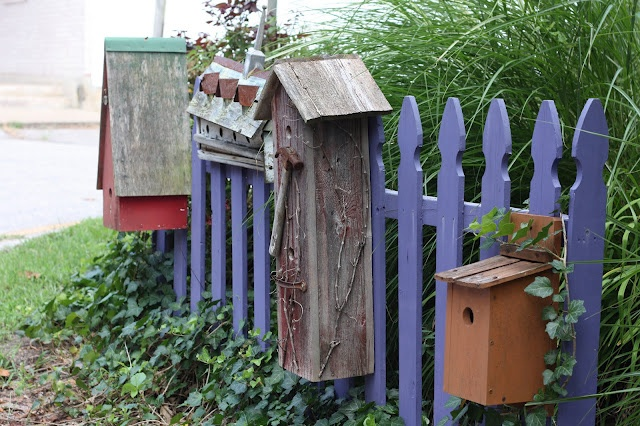 garden fence bird house