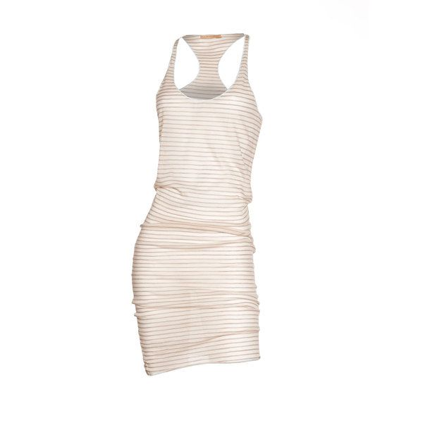 Racerback Dress Khaki Stripe