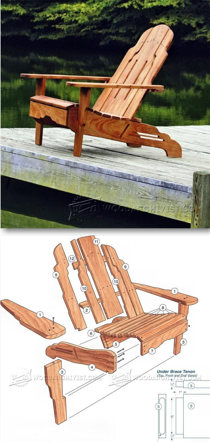 Build Adirondack Chair - Outdoor Furniture Plans & Projects | WoodArchivist.com