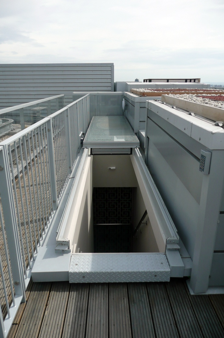 Surespan SLH sliding roof hatches have many advantages over standard 90° opening roof access hatches. The sliding roof hatches are ideal where there is a height restriction or risk of high wind ensuring your roof hatch is operable in all weather conditions. Additionally, the sliding roof hatch can be utilized for airflow control or ventilation. http://www.surespancovers.com/roof-slh.htm