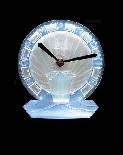 Lalique clock.