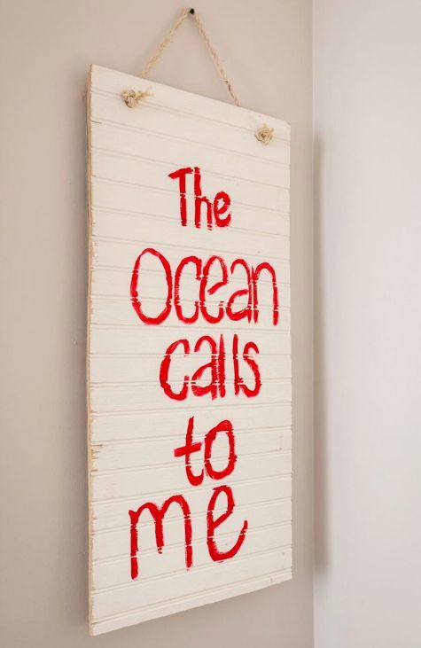 coastal beach wall art on wood panels with sea life quotes rh pinterest com