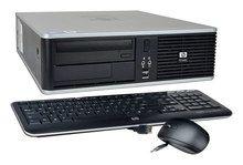 HP - Refurbished Desktop - Intel Core2 Duo - 4GB Memory - 1TB Hard Drive - Gray/Black