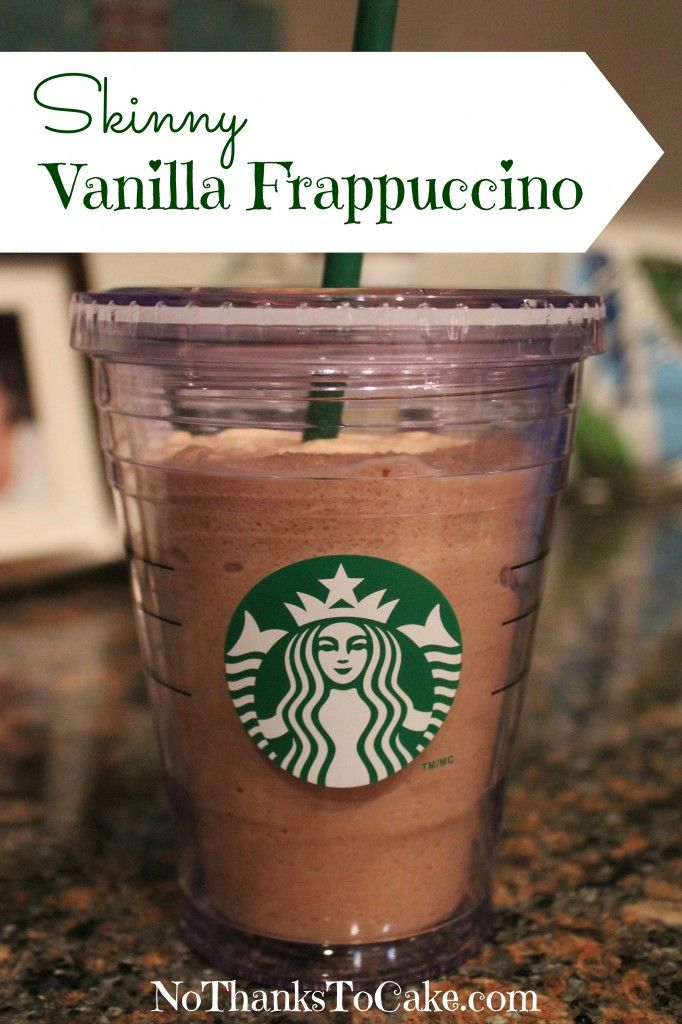 At-Home Skinny Vanilla Frappuccino - - So easy to make and so much cheaper than picking one up at Starbucks!