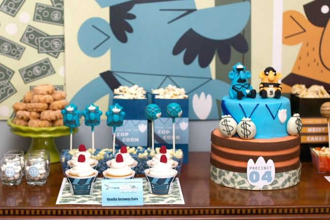 Police Birthday Party Ideas, Games, Activities, Party Favors, Cake