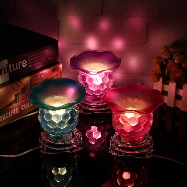 Creative Glass Electric Oil Burner Night Light Fragrant Lamp 220v Electric Oil Burner Oil Burners Electricity