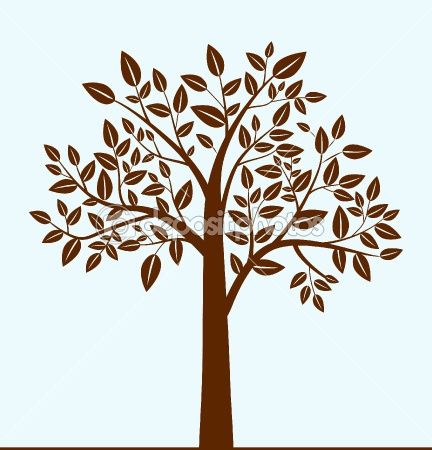 Abstract tree by yellowpixel - Stock VectorTrees Art, Abstract Trees, Brown Trees, Trees Wall