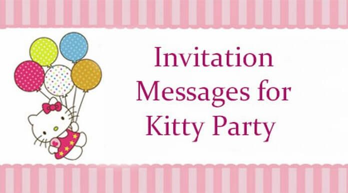 Invitation Messages For Kitty Party Invitation Card Party Cat