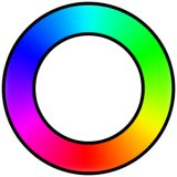 Why Magenta Is Not a Color of the Spectrum: This color wheel shows the visible spectrum of light, wrapped around to include the additive color, magenta.