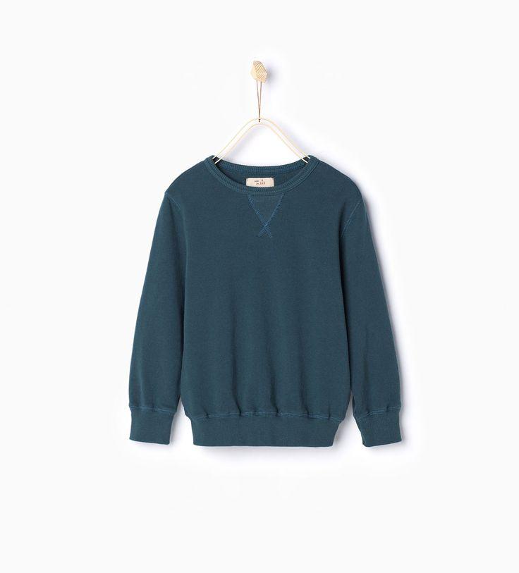 ZARA - KIDS - Sweatshirt with round neck