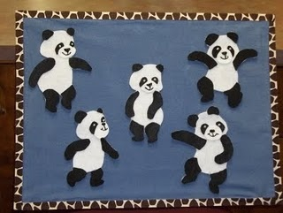 """Five Little Pandas"" #storytime #flannelboard #flannelfriday"