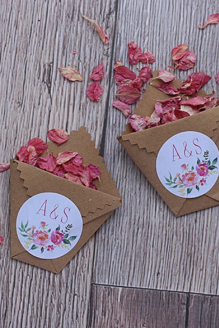 Pretty floral wedding stickers Personalised to order