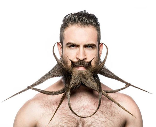Best Crazy Beards And Mustaches Images On Pinterest Weird - Guy shapes beard fun creative designs