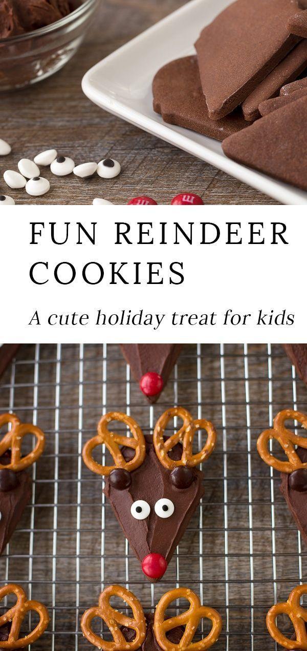The Best Chocolate Reindeer Cookies