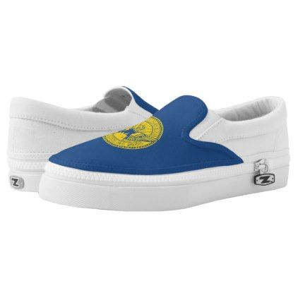 #Flag of Atlanta Georgia Slip-On Sneakers - #womens #shoes #womensshoes #custom #cool