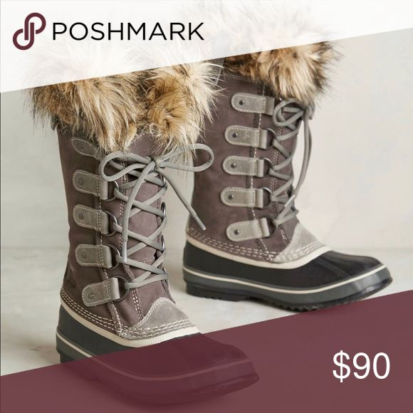 Sorel 'Joan Of Arc' Boot Excellent condition // Staple for everyday winter wardrobe // neutral colors go with everything // full- grain leather // waterproof // recycled felt inner liner // rubber bottoms // withstand rain, wind, snow Sorel Shoes Winter & Rain Boots
