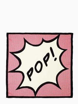 pop silk square scarf