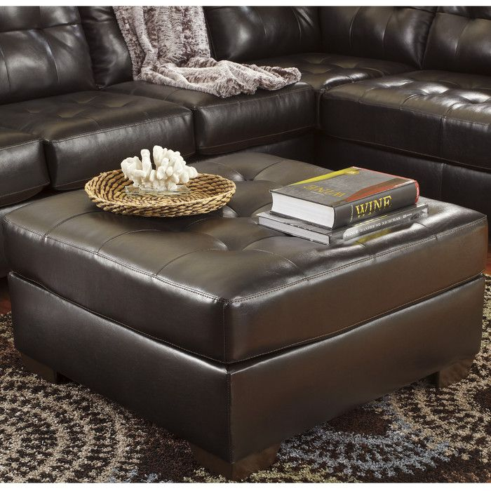 ottoman for living room%0A Enhance your living room space by adding this Flash Furniture Signature  Design by Ashley Alliston Chocolate DuraBlend Oversized Ottoman