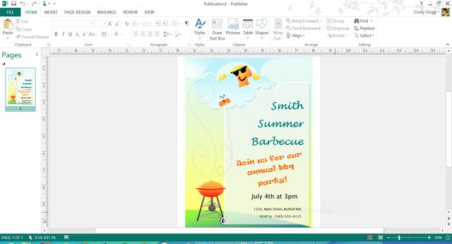 These are Microsoft's Best Free Summer Templates: Summer BBQ Flyer or Invitation Template for Microsoft Publisher