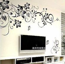 Vente chaude 2015 Stickers muraux bricolage décoration mode Wall Sticker romantique fleur / Stickers muraux Home Decor fabrication livraison gratuite(China (Mainland))