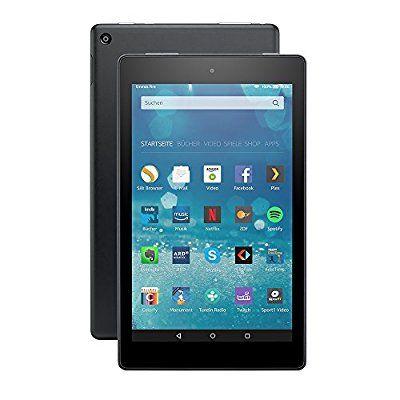 Fire HD 8-Tablet, Zertifiziert und generalüberholt, WLAN, 16 GB (Schwarz) - mit Spezialangeboten